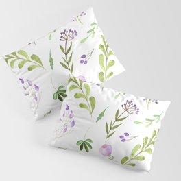 Purple Flower Field Pillow Sham