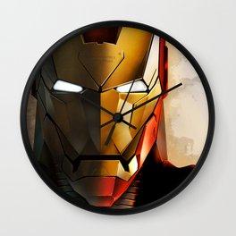 Iron Man new helmet Wall Clock