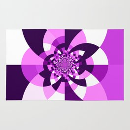 Purple Kaleidoscope Mandala Rug