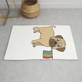 Pug Gifts Gay Pride Flag LGBT Equality Shirt Love Pug TShirt Rug