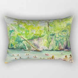 Krause Springs - historic Texas natural springs swimming hole Rectangular Pillow
