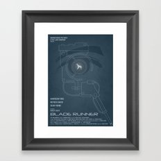 BLADE RUNNER (Voight Kampf Test Version) Framed Art Print
