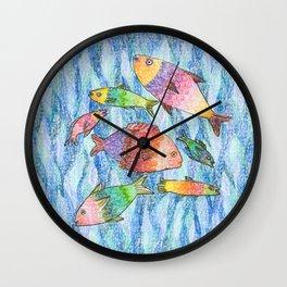 cute fish Wall Clock
