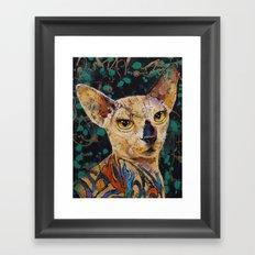 Tattooed Sphynx Framed Art Print