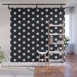 Superstars White on Black Medium Wall Mural