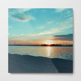 Romantic sunset lagoon Metal Print