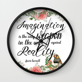 War Against Reality Wall Clock