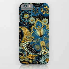 Khokhloma floral pattern iPhone Case