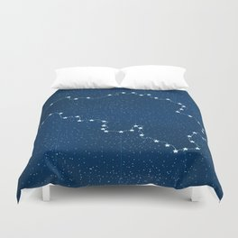 Belgium map with stars in the universe illustration Duvet Cover