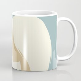 blonde girl in profile Coffee Mug