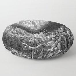 Gustave Doré's The Last Judgement Floor Pillow