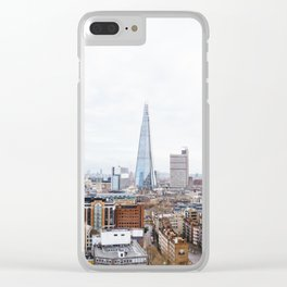 City Skyline View of the Shard, London Clear iPhone Case