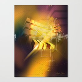 Cubic Blur Canvas Print