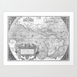 America Map 1587 Art Print