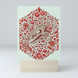 Hoard of the Gem Dragon | Ruby Mini Art Print
