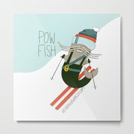 Pow Fish Metal Print