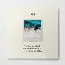 Small Emotional Dictionary: Sea Metal Print