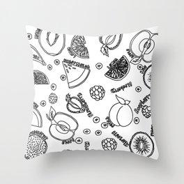 Fruit Slices Throw Pillow