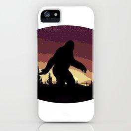 Bigfoot Sunset iPhone Case
