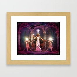 Keeper of the Flame- HEKATE Framed Art Print