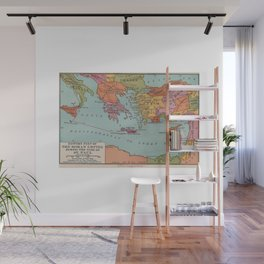East Roman Empire Map of St Pauls Voyage to Rome Wall Mural
