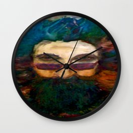 Jerry Garcia Watercolor Portrait Grateful Dead Wall Clock