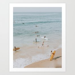 lets surf iii Art Print