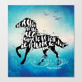 The Scorpio Races quote design Canvas Print