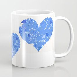 A Heart Of Blue Flowers Coffee Mug