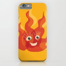 Happy Burning Cartoon Fire iPhone 6s Slim Case