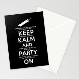 Final Fantasy 7: Keep Kalm Stationery Cards