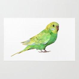 Geometric green parakeet Rug