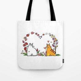 Happy Valentine Cat Tote Bag