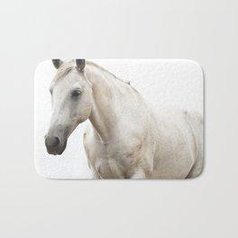 White Horse Photograph Bath Mat
