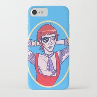 bowie iPhone & iPod Cases featuring Bowie by Jessica Fink