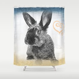 luv bunny Shower Curtain