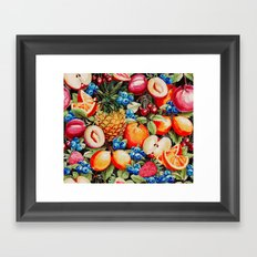 Watercolour Fruit - Bright Framed Art Print