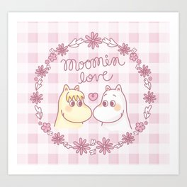 Moomin Love Pink Art Print