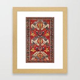 Dragon Sumakh Antique East Caucasus Kuba Rug Print Framed Art Print