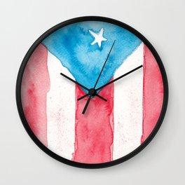 Puerto Rico Watercolour Wall Clock