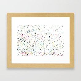 Through the Holes Framed Art Print