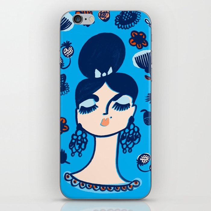 Diamonds and Pearls in Your Hair iPhone Skin