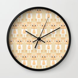 Super cute animals - Cheeky White Monkey Wall Clock
