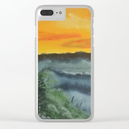 What lies beyond the valley Clear iPhone Case