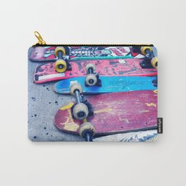 """SKATEBOARD THRIFT"" BY ROBERT DALLAS Carry-All Pouch"