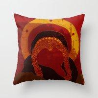 xena Throw Pillows featuring Xena : Warrior Princess by LizSchafroth
