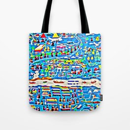 Mekong river scene Tote Bag