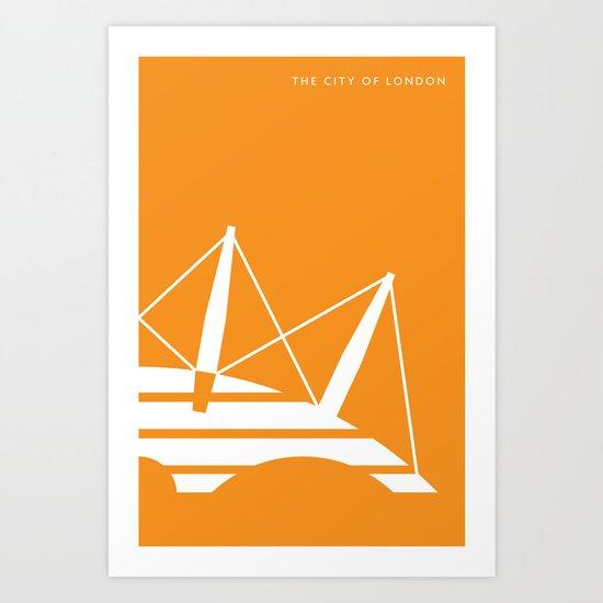 Iconic London: Millennium Dome Art Print