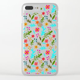 Blue Garden #illustration #pattern Clear iPhone Case