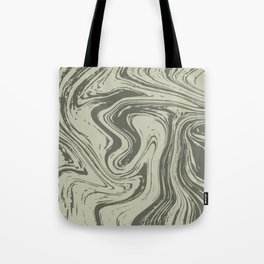Grey Striped Marble On Grey Tote Bag